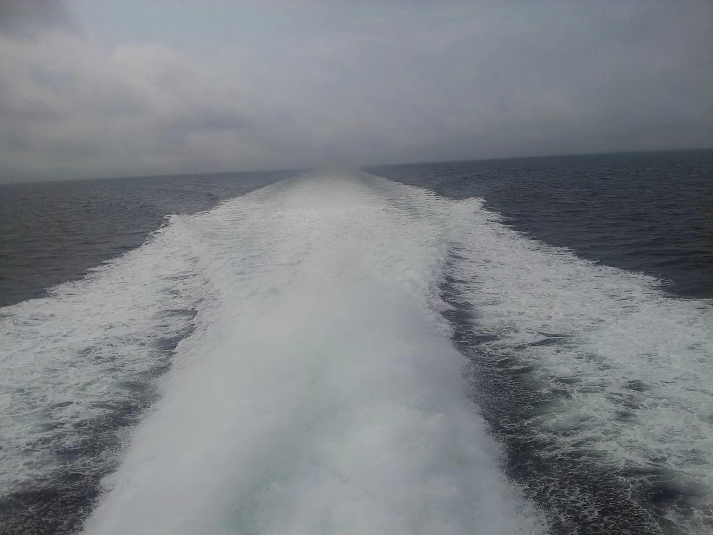 cruise ship wake, Cape Cod