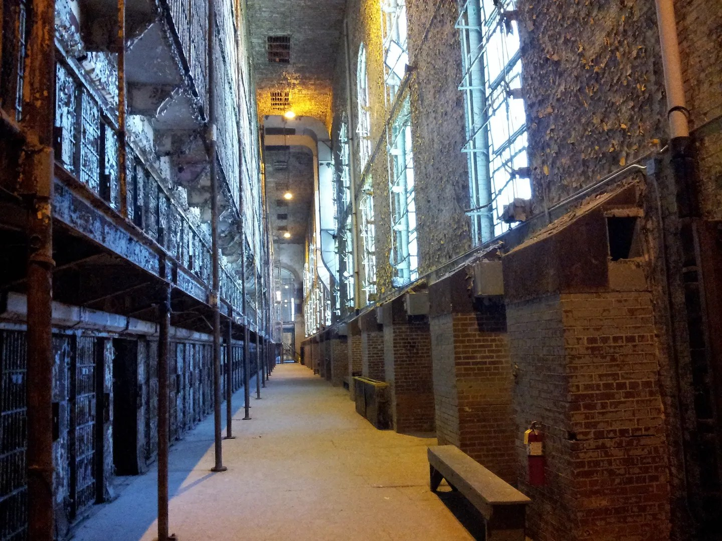 cell block, Ohio State Reformatory, Mansfield