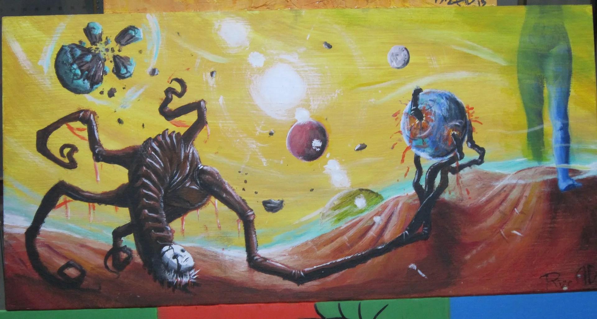alien worlds, high school art class