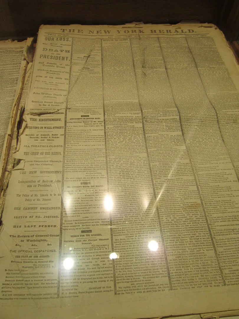 Lincoln newspaper, Underground Salt Museum, Hutchinson, Kansas