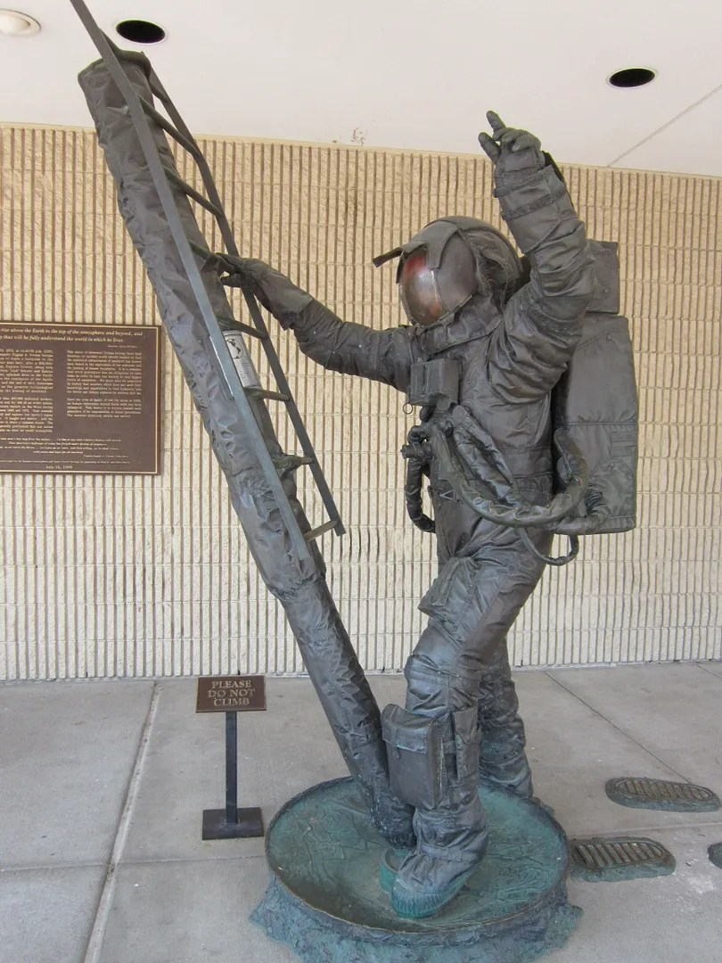 astronaut sculpture, Kansas Cosmosphere & Space Center, Hutchinson, Kansas
