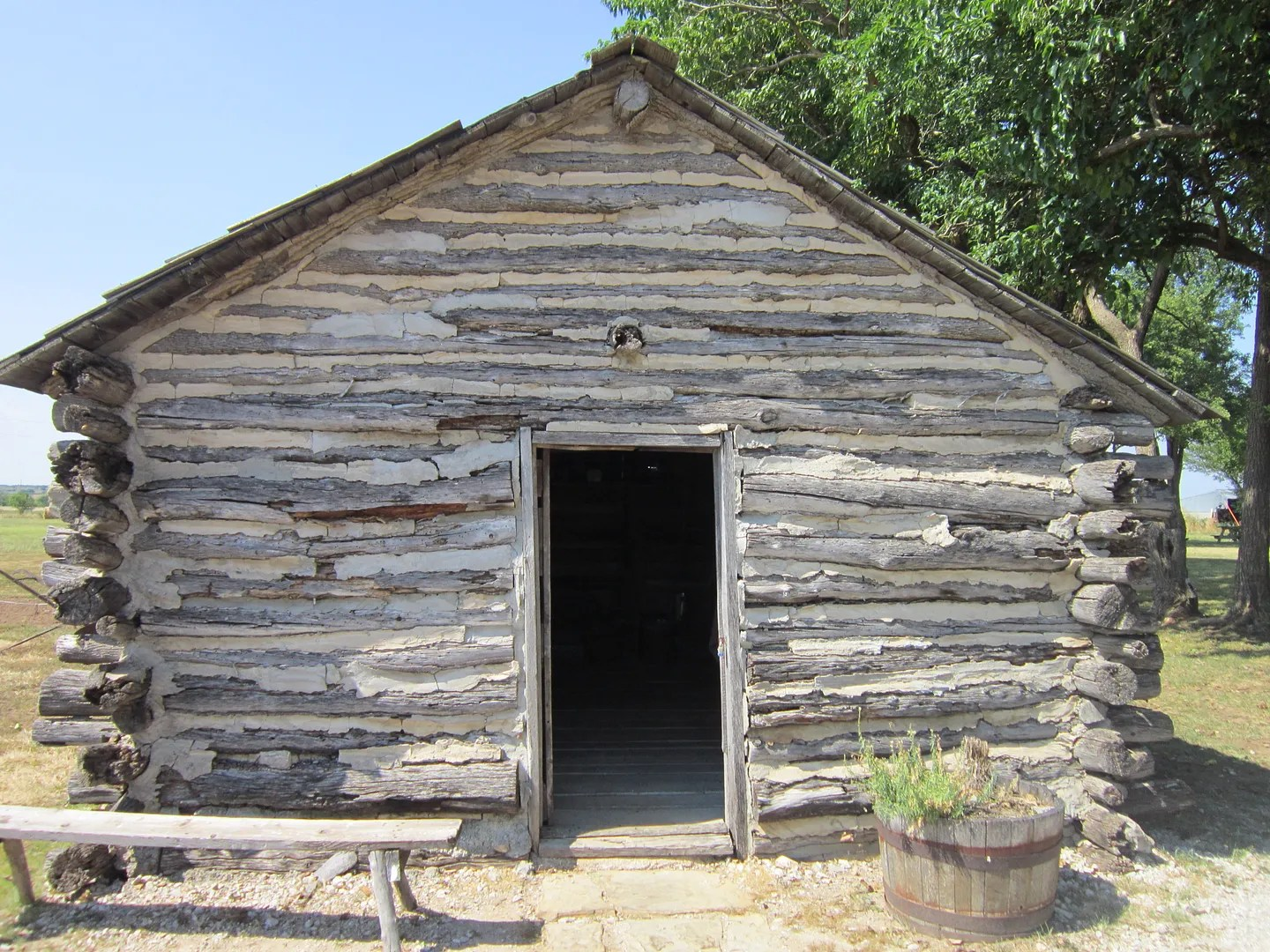 log cabin of LIES, Little House on the Prairie Museum, Independence, Kansas