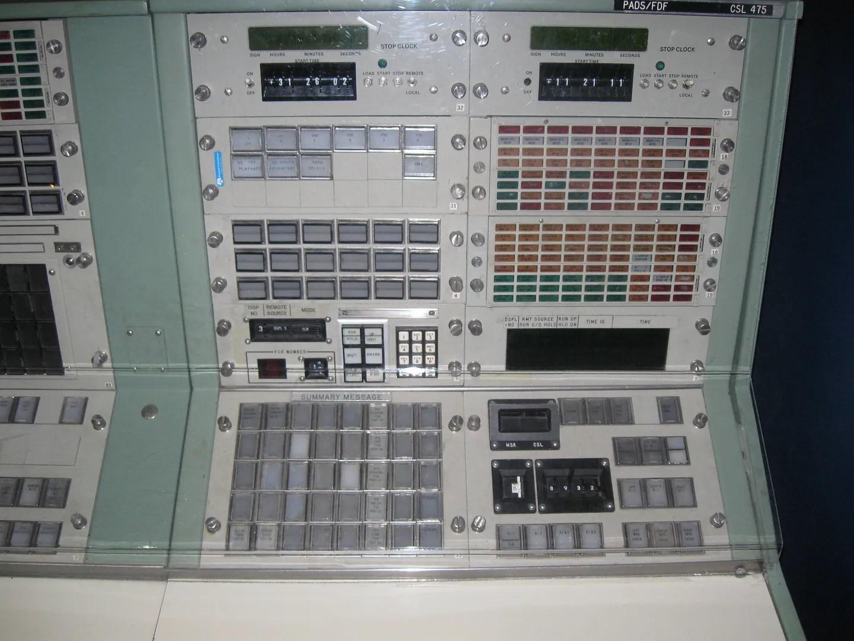 Houston control panel, Kansas Cosmosphere & Space Center, Hutchinson, Kansas