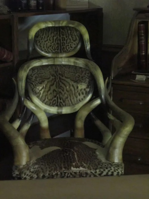 bullhorn chair, Boot Hill Museum, Dodge City, Kansas
