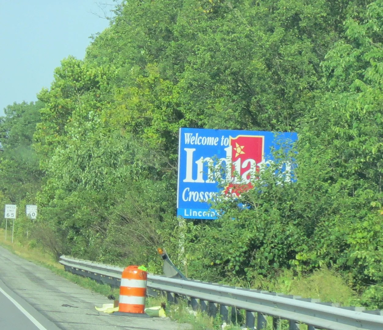 Indiana welcome sign