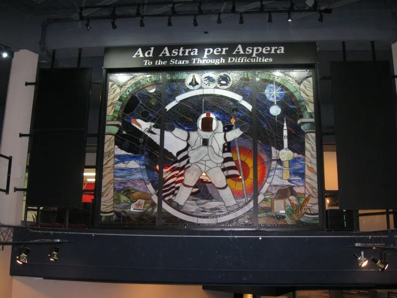 Ad Astra per Aspera, Kansas Cosmosphere & Space Center, Hutchinson, Kansas