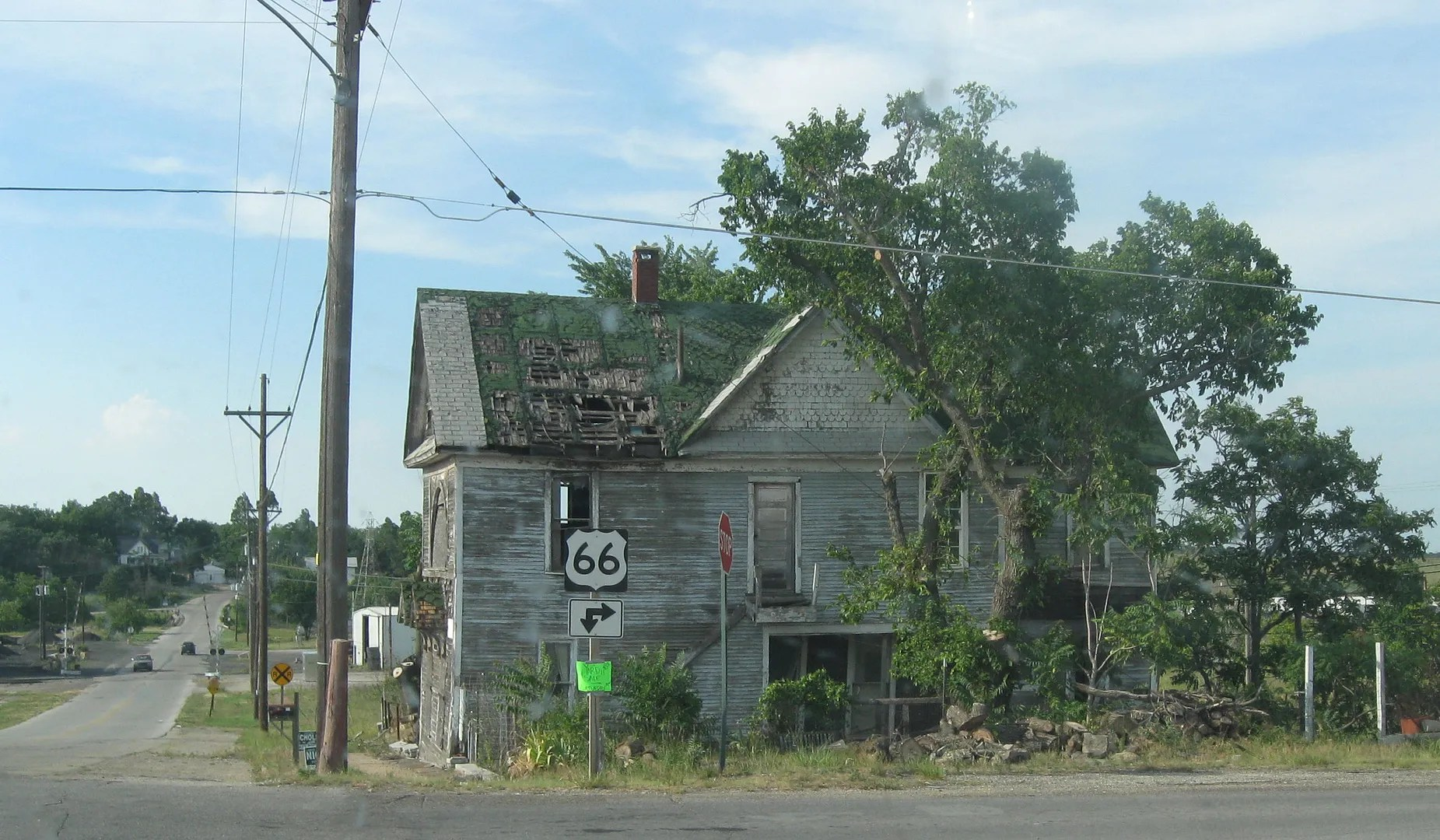 sad house, Route 66, Galena, Kansas