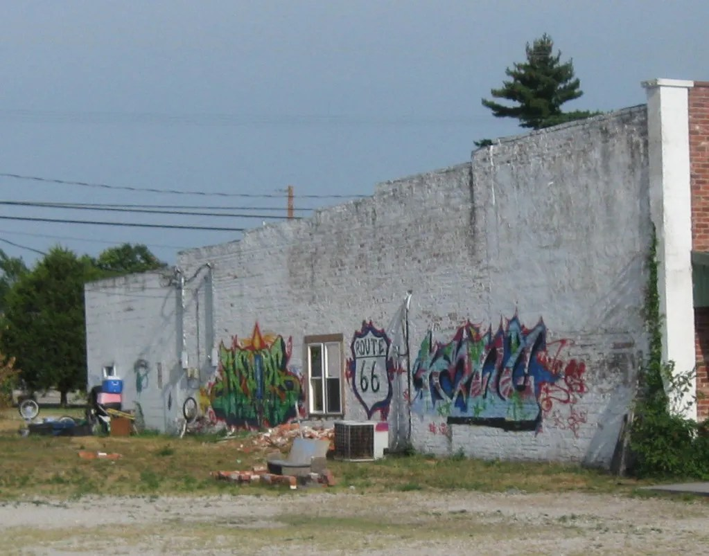 Route 66 graffiti, Galena, Kansas