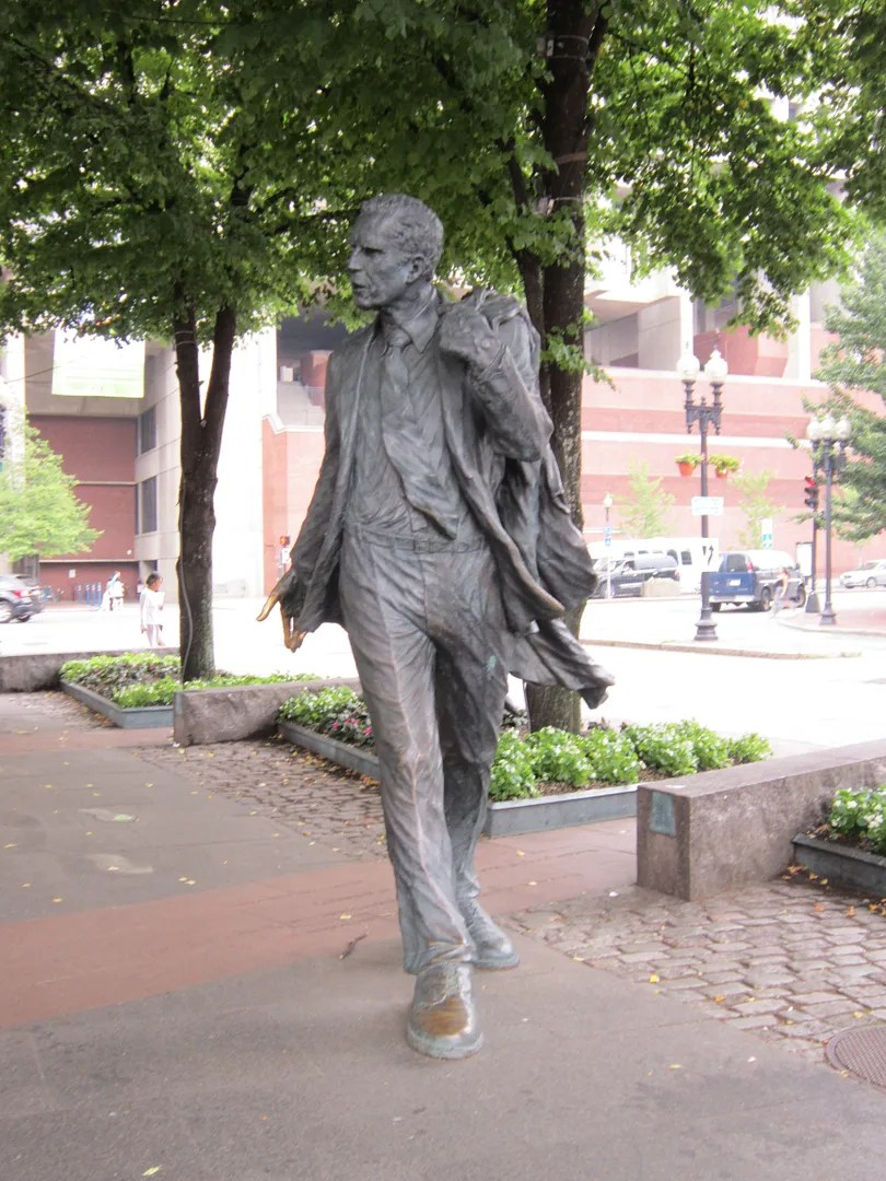 male statue, Faneuil Hall, Boston