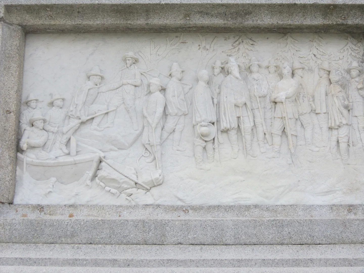 Pilgrim frieze,National Monument to the Forefathers, Plymouth, Massachusetts