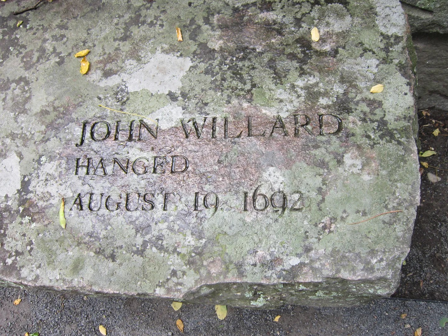 John Willard bench, Salem Witch Trials Monument, Salem, Massachusetts