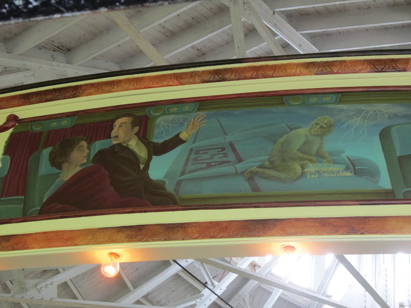 Nightmare at 20,000 Feet carousel painting
