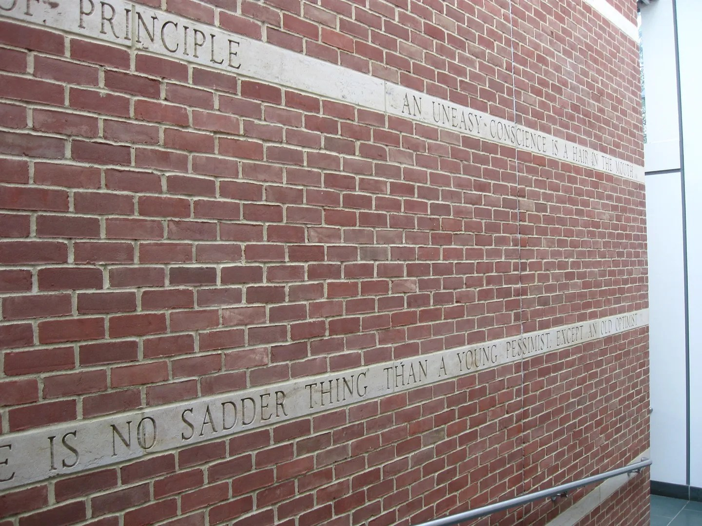 Mark Twain brick wall