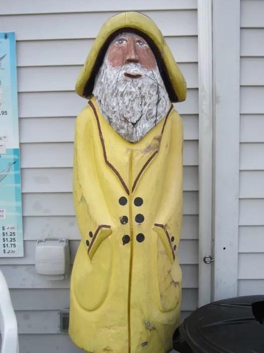 wooden sailor, Plymouth, Massachusetts