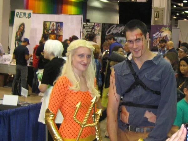 Ash, Evil Dead, Aquawoman, Wizard World Chicago 2013