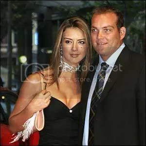 Jacques Kallis and his partner at the ICC awards
