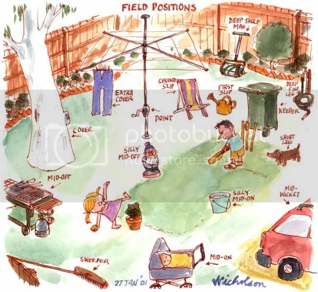 Positions in Backyard Cricket
