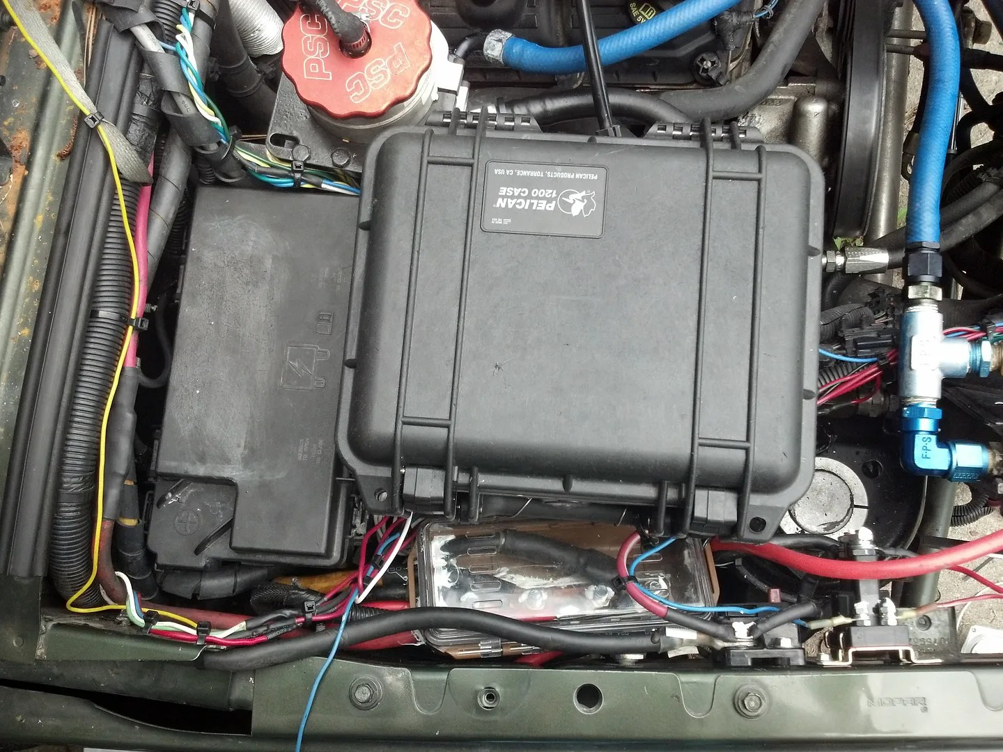 hight resolution of  fuse block to the firewall with not extending any wires other than a couple grounds and a handfull for markers sensors at the grill