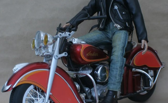 Hot Toys Custom James Dean With Indian Motorcycle