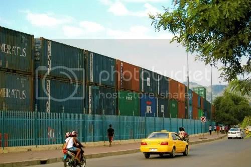 dili port shipping containers east timor leste