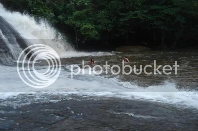 fall at waterfall