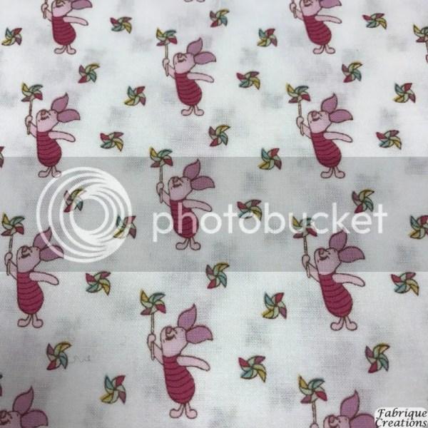 Winnie Pooh Fabric - 100 Cotton Piglet 2142-06
