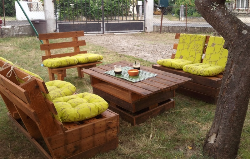 plan fabrication salon de jardin en palette