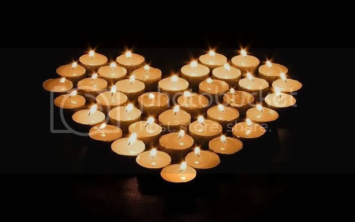 Candle heart Pictures, Images and Photos