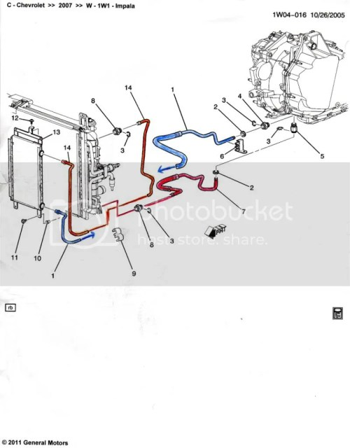 small resolution of the oem aux trans oil cooler rh gmls4 com 2007 chevy impala 3 5 engine diagram