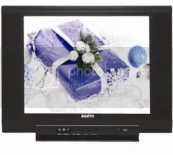 """A 21"""" and 14"""" Sanyo TV Combo for only Php 9, 995."""