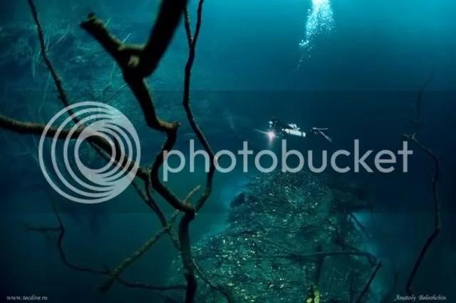 Sungai Unik Cenote Angelita Meksiko