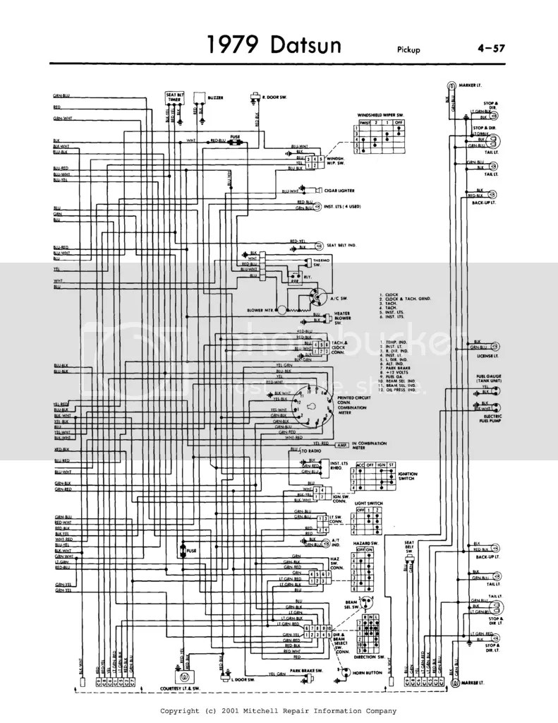 1979 datsun pick up wiring schematic