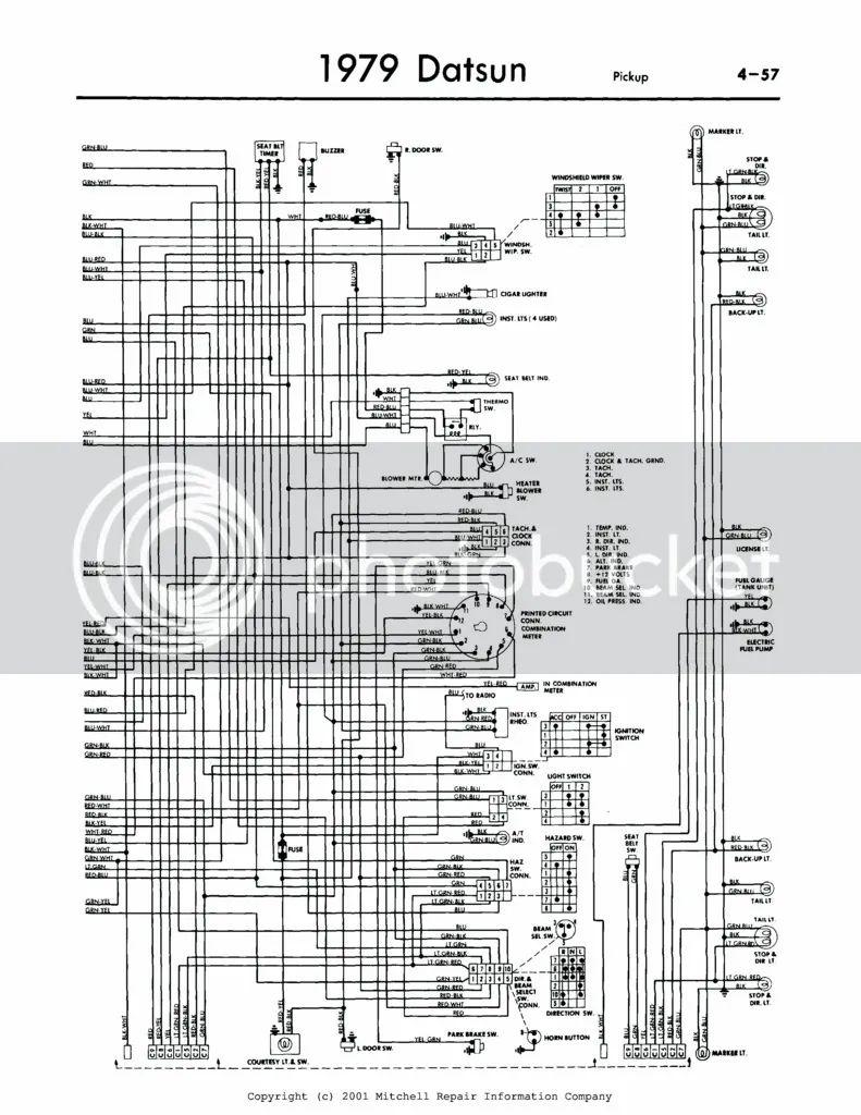 Nissan Datsun 720 Wiring Diagram