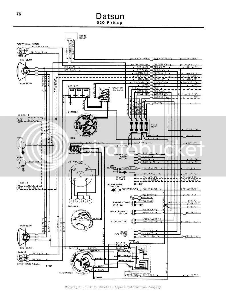 76 datsun pick up wiring schematic