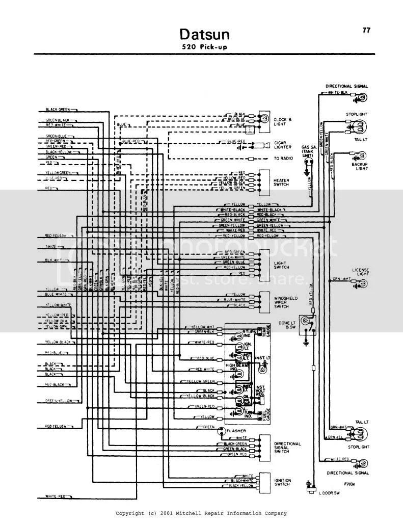 Datsun 520 Wiring Diagram 2 Of 2 Photo by Charlie69_Datsun