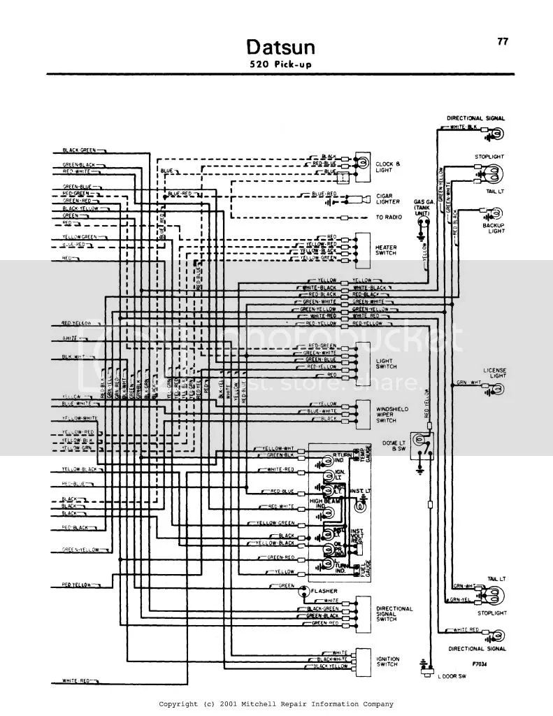 datsun 710 wiring diagram