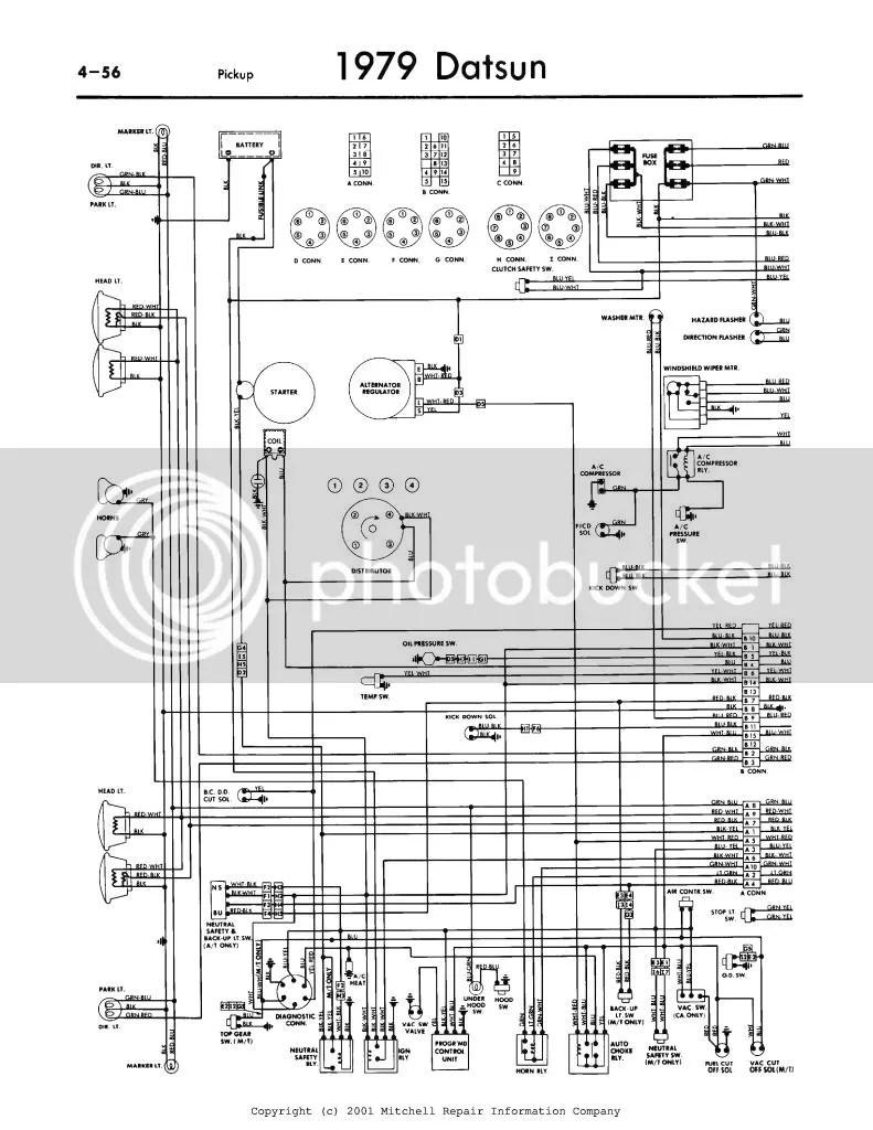 1974 Datsun 620 Wiring Diagram - Wiring Diagram Char on
