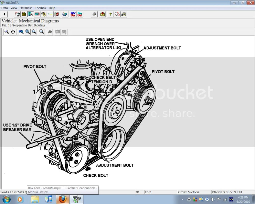 medium resolution of ford taurus engine belt routing diagram wiring library 2010 toyota matrix engine diagram 2000 crown victoria