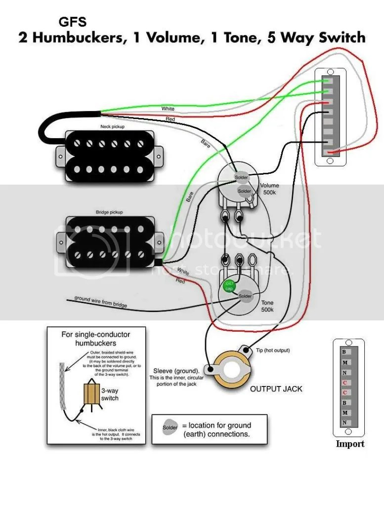 hight resolution of 2 gfs hum 1 vol 1 tone 5 way photo 2gfshum1vol1tone5way jpg guitar wiring diagrams