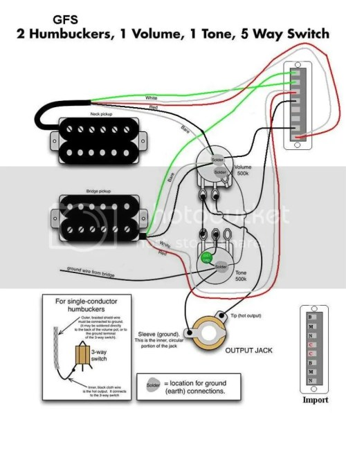 small resolution of 2 gfs hum 1 vol 1 tone 5 way photo 2gfshum1vol1tone5way jpg guitar wiring diagrams story by brian