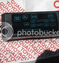 86 corolla fuse box wire center u2022 rav4 fuse box 86 corolla fuse box [ 1024 x 768 Pixel ]