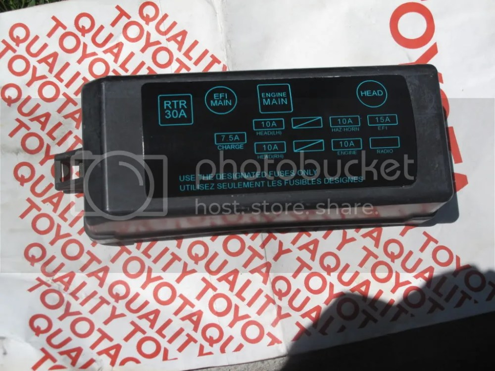 medium resolution of 86 corolla fuse box wire center u2022 rav4 fuse box 86 corolla fuse box