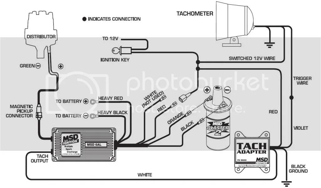 msd tach adapter wiring instructions