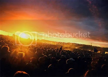 Sunset at Glastonbury