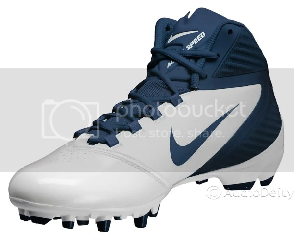 Nike Alpha Speed Td Mid Mens Football Cleats White