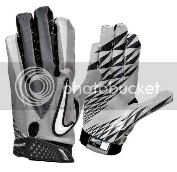 Nike Vapor Jet Football Receiver Skill Gloves - Gray
