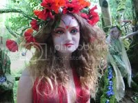 Fairy woman in red