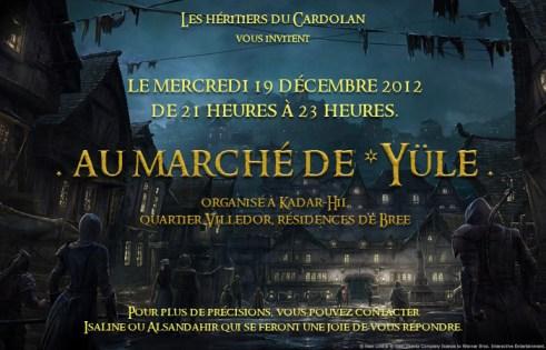 Marché de Yule - Héritiers du Cardolan