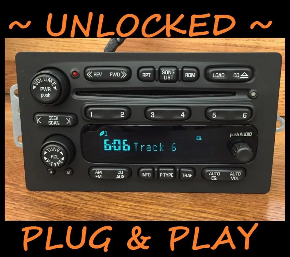 medium resolution of plug play 02 03 chevy trailblazer s10 gmc envoy 6 disc cd changer radio unlocked