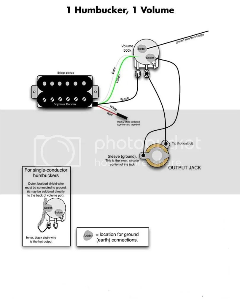 Les Paul Wiring Diagram 1 Conductor Humbucker : 45 Wiring